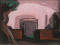 American:Modern, OSCAR FLORIANUS BLUEMNER (American, 1867-1938). Untitled.Watercolor on paper. 3-1/4 x 4-1/2 inches (8.3 x 11.4 cm) (ima...