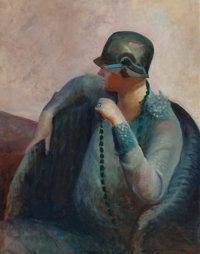 GUY PÈNE DU BOIS (American, 1884-1958) The Artist's Wife, 1928 Oil on canvas 36 x 29 inches (91.4