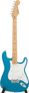 Musical Instruments:Electric Guitars, 1980s Fender Stratocaster Plus Lake Placid Blue Solid Body ElectricGuitar, Serial # E451590. ...