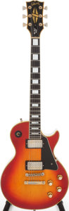 Musical Instruments:Electric Guitars, 1974 Gibson Les Paul Custom Cherry Sunburst Solid Body ElectricGuitar, Serial # 113564....