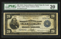 Fr. 825 $20 1918 Federal Reserve Bank Note PMG Very Fine 20