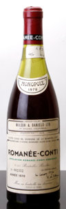 Red Burgundy, Romanee Conti 1978 . Domaine de la Romanee Conti . 4.5cm,lbsl, #002352. Bottle (1). ... (Total: 1 Btl. )