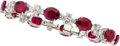 Estate Jewelry:Bracelets, Ruby, Diamond, White Gold Bracelet, Piranesi. ...