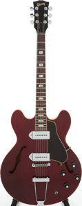 Musical Instruments:Electric Guitars, 1968 Gibson ES-330TDC Sparkling Burgundy Semi-Hollow Body ElectricGuitar, Serial # 093857....