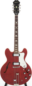 Musical Instruments:Electric Guitars, 1966 Epiphone Riviera Cherry Semi-Hollow Body Electric Guitar,Serial # 421402. ...