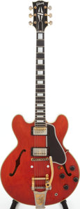 Musical Instruments:Electric Guitars, 1959 Gibson ES-355 Cherry Semi-Hollow Body Electric Guitar, Serial # A29340....