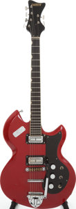 Musical Instruments:Electric Guitars, 1965 Gretsch Astro Jet Red Solid Body Electric Guitar, Serial #1011....