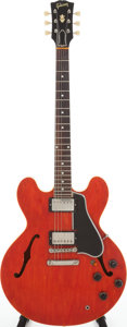 Musical Instruments:Electric Guitars, 1959 Gibson ES-335 Cherry Semi-Hollow Body Electric Guitar, Serial# A31602. ...