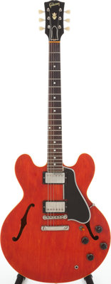 1959 Gibson ES-335 Cherry Semi-Hollow Body Electric Guitar, Serial # A31602