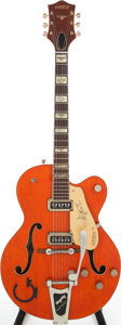 Musical Instruments:Electric Guitars, 1956 Gretsch 6120 Orange Semi-Hollow Body Electric Guitar, Serial #18537....