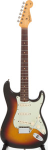 Musical Instruments:Electric Guitars, 1962 Fender Stratocaster Sunburst Solid Body Electric Guitar, Serial # 86350. ...
