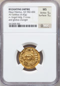 Ancients:Byzantine, Ancients: Maurice Tiberius (AD 582-602). AV solidus (22mm, 4.42 gm,6h). ...