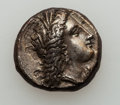 Ancients:Greek, Ancients: LUCANIA. Metapontum. Ca. 330-290 BC. AR stater or nomos(21mm, 7.84 gm, 3h). ...