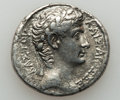 Ancients:Roman Provincial , Ancients: SYRIA. Antioch. Augustus (27 BC-AD 14). AR tetradrachm(28.5mm, 14.54 gm, 12h). ...