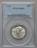 Standing Liberty Quarters: , 1930 25C MS62 PCGS. PCGS Population (160/859). NGC Census:(101/436). Mintage: 5,632,000. Numismedia Wsl. Price for problem...
