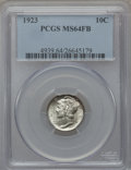 Mercury Dimes: , 1923 10C MS64 Full Bands PCGS. PCGS Population (359/539). NGCCensus: (232/312). Mintage: 50,130,000. Numismedia Wsl. Price...