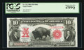 Large Size:Legal Tender Notes, Fr. 121 $10 1901 Mule Legal Tender PCGS Superb Gem New 67PPQ.. ...
