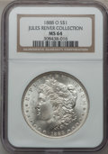 Morgan Dollars: , 1888-O $1 MS64 NGC. Ex: Jules River Collection. NGC Census:(9127/1369). PCGS Population (6847/1955). Mintage: 12,150,000. ...