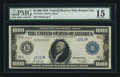 Large Size:Federal Reserve Notes, Fr. 1133-J $1,000 1918 Federal Reserve Note PMG Choice Fine 15.. ...