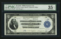 Serial Number Five Fr. 774 $2 1918 Federal Reserve Bank Note PMG Choice Very Fine 35 EPQ