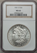 Morgan Dollars: , 1901-O $1 MS65 NGC. NGC Census: (4601/451). PCGS Population(2648/467). Mintage: 13,320,000. Numismedia Wsl. Price for prob...