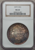 Morgan Dollars: , 1879-S $1 MS65 NGC. NGC Census: (21347/9075). PCGS Population(22817/8129). Mintage: 9,110,000. Numismedia Wsl. Price for p...