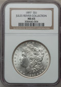 Morgan Dollars: , 1897 $1 MS65 NGC. Ex: Jules River Collection. NGC Census:(1494/161). PCGS Population (1446/300). Mintage: 2,822,731.Numis...