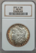 Morgan Dollars: , 1902-O $1 MS65 NGC. NGC Census: (6331/556). PCGS Population(4083/508). Mintage: 8,636,000. Numismedia Wsl. Price for probl...
