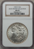 Morgan Dollars: , 1900-O $1 MS65 NGC. Ex: Jules River Collection. NGC Census:(6554/1039). PCGS Population (5814/933). Mintage: 12,590,000. N...