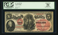 Large Size:Legal Tender Notes, Fr. 66 $5 1875 Legal Tender PCGS Apparent About New 50.. ...