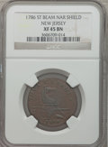 Colonials, 1786 COPPER New Jersey Copper, Straight Beam, Narrow Shield XF45NGC. NGC Census: (7/16). PCGS Population (10/24)....