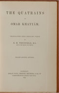 Books:Literature Pre-1900, Omar Khayyam. The Quatrains of Omar Khayyam. Kegan Paul,1893. Second edition, revised. Translated by E. H. Whi...