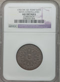 Colonials: , 1783 COPPER Nova Constellatio Copper, Pointed Rays, Small US --Corrosion -- NGC Details. AU. NGC Census: (6/10). PCGS Popu...
