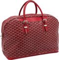 Luxury Accessories:Travel/Trunks, Goyard Red Chevron Monogram Canvas Croisiere Suitcase. ...