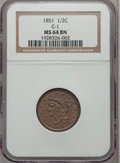Half Cents: , 1851 1/2 C MS64 Brown NGC. C-1. NGC Census: (71/17). PCGSPopulation (36/1). Mintage: 147,672. Numismedia Wsl. Price for p...