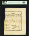 Colonial Notes:Massachusetts, Massachusetts Bay Treasury Certificate March 1, 1783 Anderson MA-4Two Consecutive Examples PCGS About New 53PPQ/About New 50....(Total: 2 notes)