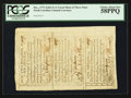 Colonial Notes:North Carolina, North Carolina December 1771 2s 6d, 5s, 1s Uncut Sheet of ThreePCGS Choice About New 58PPQ.. ...