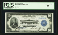 Fr. 819 $10 1915 Federal Reserve Bank Note PCGS Choice About New 58