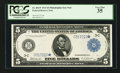 Large Size:Federal Reserve Notes, Fr. 854* $5 1914 Federal Reserve Note PCGS Very Fine 35.. ...