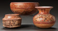 Pre-Columbian:Ceramics, THREE MAYA PAINTED VESSELS. c. 600 - 900 AD... (Total: 3 Items)