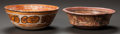 Pre-Columbian:Ceramics, TWO MAYA PAINTED BOWLS. c. 600 - 900 AD... (Total: 2 Items)