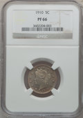 Proof Liberty Nickels: , 1910 5C PR66 NGC. NGC Census: (125/50). PCGS Population (83/35).Mintage: 2,405. Numismedia Wsl. Price for problem free NGC...