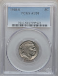 Buffalo Nickels: , 1918-S 5C AU58 PCGS. PCGS Population (59/417). NGC Census:(47/401). Mintage: 4,882,000. Numismedia Wsl. Price for problem ...