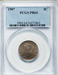 Proof Liberty Nickels: , 1907 5C PR64 PCGS. PCGS Population (181/135). NGC Census:(105/160). Mintage: 1,475. Numismedia Wsl. Price for problemfree...