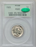 Buffalo Nickels: , 1929 5C MS65 PCGS. CAC. PCGS Population (543/172). NGC Census:(249/46). Mintage: 36,446,000. Numismedia Wsl. Price for pro...