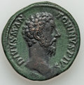 Ancients:Roman Imperial, Ancients: Divus Marcus Aurelius (died AD 180). Orichalcumsestertius (32mm, 26.50 gm, 6h). ...