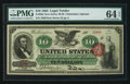 Large Size:Legal Tender Notes, Fr. 95b $10 1863 Legal Tender PMG Choice Uncirculated 64 EPQ.. ...