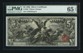 Large Size:Silver Certificates, Fr. 268 $5 1896 Silver Certificate PMG Gem Uncirculated 65 EPQ.....