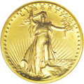 High Relief Double Eagles: , 1907 $20 High Relief, Wire Rim AU58 NGC. An exceptional example forthe near-Mint level, the surfaces are free of most size...