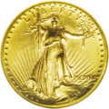 High Relief Double Eagles: , 1907 $20 High Relief, Wire Rim MS62 NGC. The wire rim is pronounced and extends around approximately 50% of both the obvers...